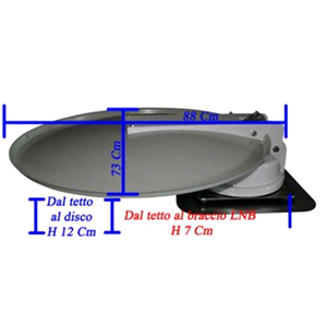 AUTOMATIC MOTORIZED satellite antenna for CAMP GIOCAMPER M7 T-SAT (Disc 80  cm) PROMOTION 2019