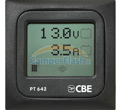 PANNELLO TEST DIGITALE TOUCH PT642//G GRIGIO PER CAMPER BARCA